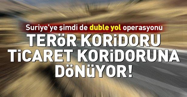 Türkiye'den Suriye'ye duble yol