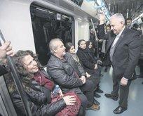 Üsküdar'a giderken Marmaray'ı kullandı