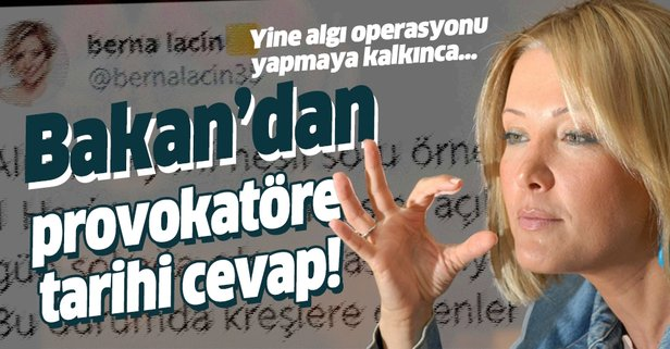 Bakan Selçuk'tan provokatöre tarihi cevap!