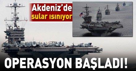 ABDden Akdenizde kritik hamle! Operasyon başladı