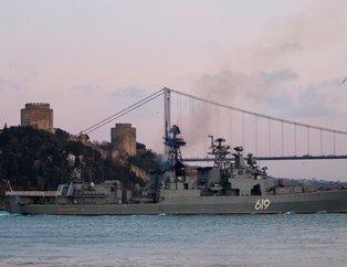 Karadeniz'de soğuk savaş! Rus savaş gemisi İstanbul Boğazı'ndan geçti