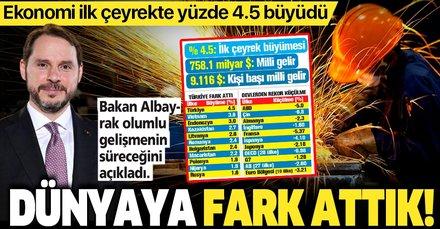 Dünyaya fark attık! Türkiye ekonomisi ilk çeyrekte yüzde 4.5 büyüdü
