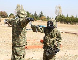 Kimyasal tehditlere karşı Mehmetçike üst düzey eğitim