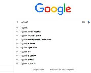 Google'daki 'siyanür' aratmaları kan dondurdu!
