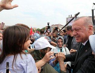 Başkan Recep Tayyip Erdoğan'a Bahçelievler'de yoğun ilgi
