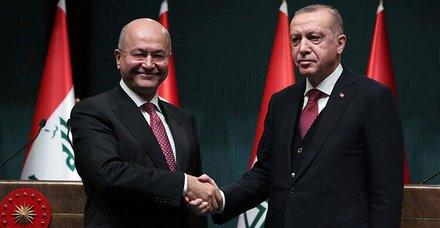 Son dakika: Erbil'deki saldırı sonrası Irak Cumhurbaşkanı Salih'ten Başkan Erdoğan'a taziye telefonu