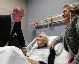 Başkan Erdoğan'dan yaşayan efsaneye ziyaret