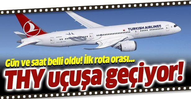 THY ilk uçuşunu Ankara'ya yapacak