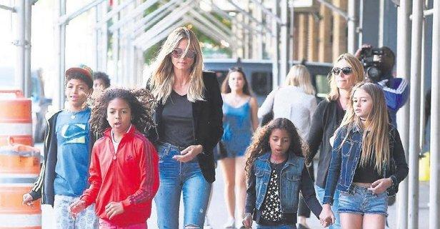 Alman Model Heidi Klum 45 Yaşında 5inci çocuğuna Hamile Kalarak
