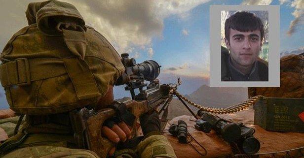 PKK şokta! Gri listedeki terörist öldürüldü