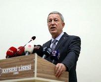 Milli Savunma Bakanı Hulusi Akar'dan kimyasal açıklaması!
