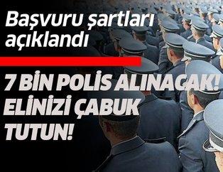 7 bin polis alınacak! Polis alımı hangi tarihte, ne zaman bitecek?