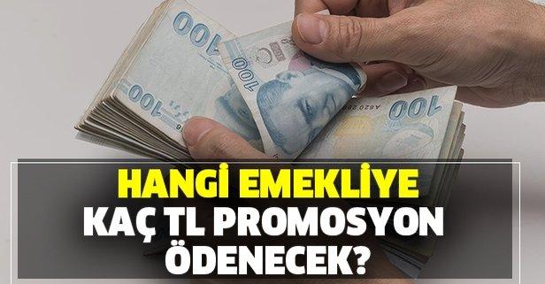 Mart ayında hangi emekliye kaç TL promosyon ödenecek?
