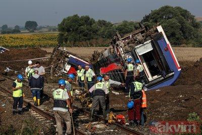 Tekirdağ'daki tren kazasında hayatını kaybeden 24 kişinin isimleri belli oldu