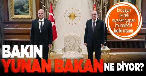 Yunanistan'dan Başkan Erdoğan'a övgü dolu sözler