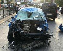 Beşiktaş'ta feci kaza ucuz atlatıldı