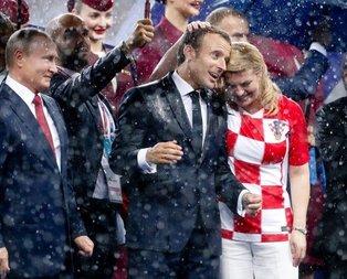 Dünya Kupası finalinde Macrondan sıcak temas