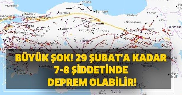 Büyük şok! 29 Şubat'a kadar 7-8 şiddetinde deprem olabilir!