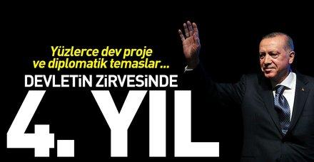 Başkan Erdoğan devletin zirvesinde 4 yılı geride bıraktı