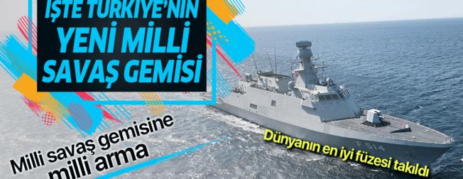 Dünyanın en iyi füzesi takıldı... İşte Türkiye'nin yeni milli savaş gemisi TCG Kınalıada (F-514) suya indi!