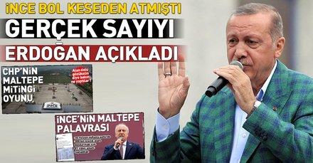 Cumhurbaşkanı Erdoğan İncenin miting rakamlarını açıkladı