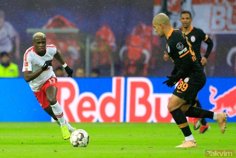 Fatih Terim hemen yanına gitti! RB Leipzig - Galatasaray maçına damga vuran an...