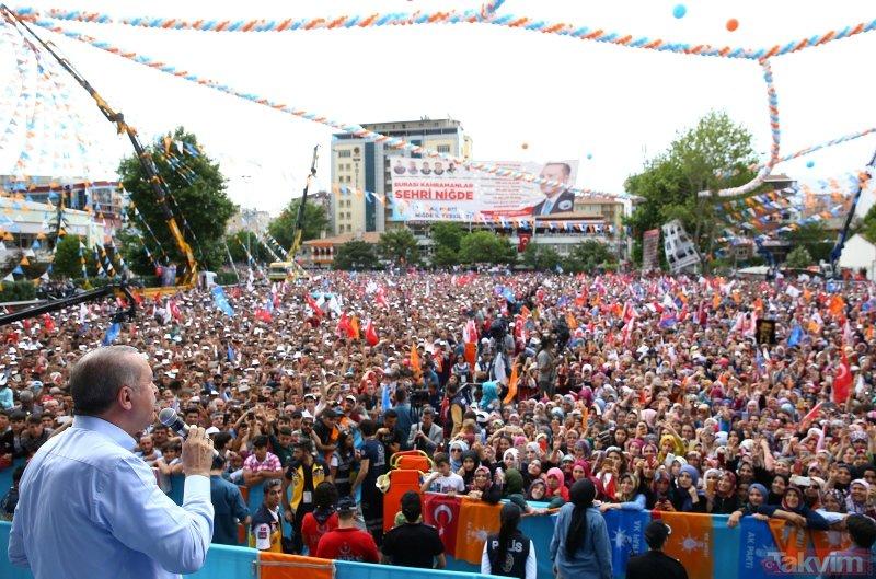 Niğde'de Erdoğan coşkusu