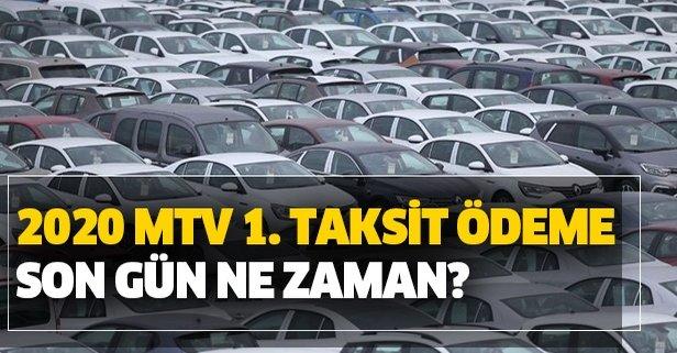 MTV 1. taksit ödeme son gün ne zaman?