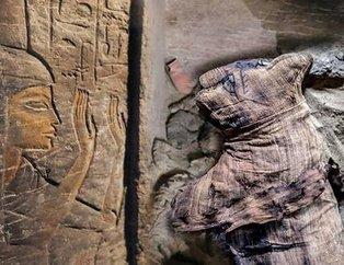Mısırda kedi ve böcek mumyası bulundu