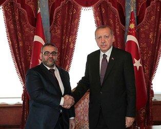 Erdoğan, Halid El-Meşri'yi kabul etti