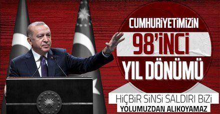 Son dakika: Başkan Erdoğan'dan 29 Ekim Cumhuriyet Bayramı dolayısıyla video mesaj!