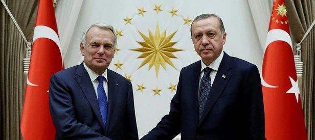 Cumhurbaşkanı Erdoğan Ayraultu kabul etti