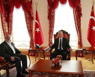 Başkan Erdoğan, Heniyye'yi kabul etti