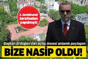 Başkan Recep Tayyip Erdoğan'dan Hadımköy Dr. İsmail Niyazi Kurtulmuş Hastanesi paylaşımı!
