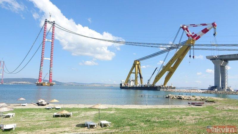 1915 Çanakkale Köprüsü'nde tarihi an! 48 metre uzunluğunda, 700 ton ağırlığında...