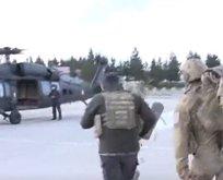 A Haber sıcak bölgede! Askeri helikopterden canlı yayın...
