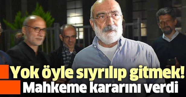 Ahmet Altan'a şok! Reddedildi