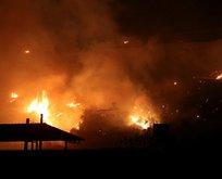 Hatay İskenderun'da yangın çıktı!