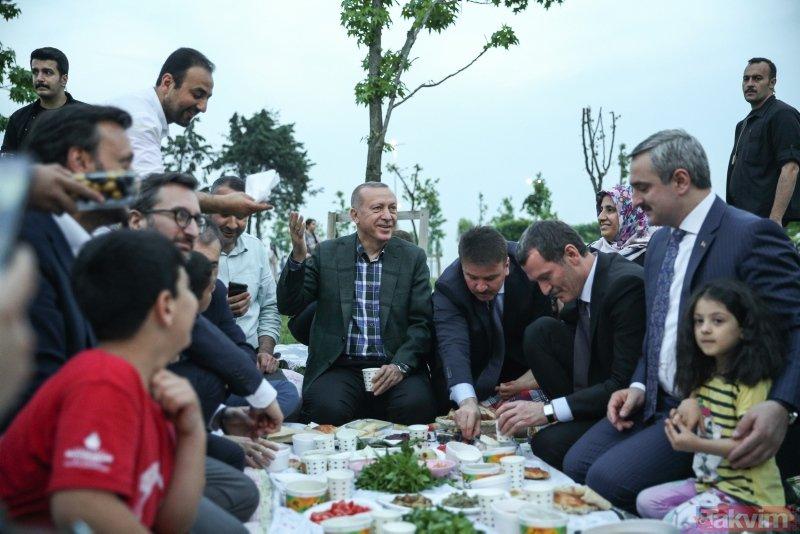 Başkan Erdoğan sahilde iftar saatini bekleyen vatandaşlarla buluştu