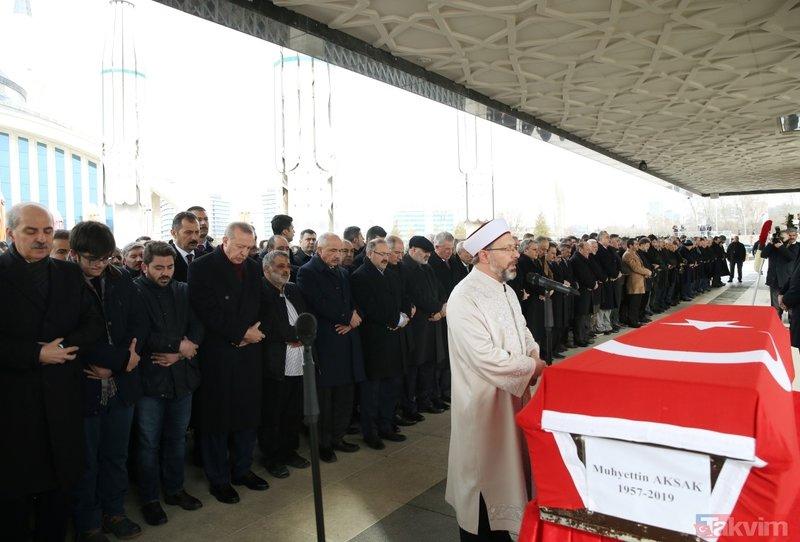 AK Parti'li Muhyettin Aksak'a veda! Cenazesine Başbakan Erdoğan da katıldı