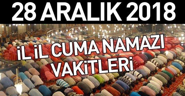Cuma Namazı Vakti 28 Aralık Istanbul Ankara Ve Izmirde Cuma