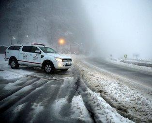 Bolu Dağında yoğun kar yağışı!