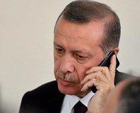 Başkan Erdoğandan tebrik telefonu