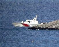 Sahil güvenlik Yunan botlarını kovaladı