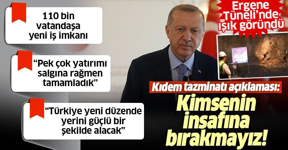 Son dakika: Başkan Erdoğan'dan