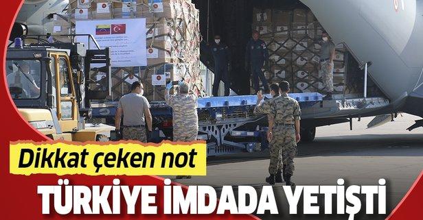 Türkiye'den bir ülkeye daha yardım eli