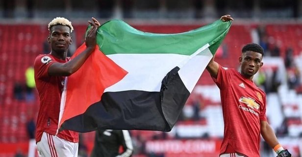 Diallo ve Paul Pogba'dan Filistin'e destek!