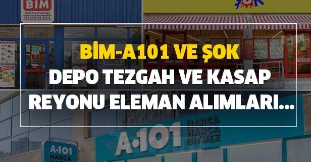 2020 BİM-A101 ve ŞOK -3000 TL maaşla personel alımı şartlar ve kadrolar...