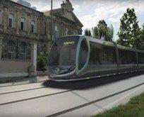 Eyüpsultan'da tramvay hareketi
