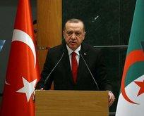 Erdoğan'dan Cezayirli gazeteciye tarihi ayar